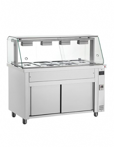 Inomak Gastronorm Bain Marie with glass structure MIV714